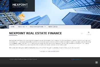 NexPoint Real Estate Finance, Inc. Website Screenshot
