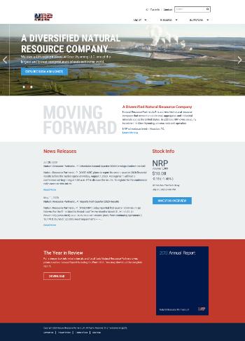 Natural Resource Partners L.P. Website Screenshot