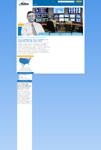 NuStar Energy L.P. Website Screenshot