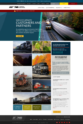 Norfolk Southern Corporation Website Screenshot