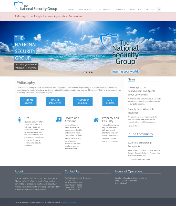 The National Security Group, Inc. Website Screenshot