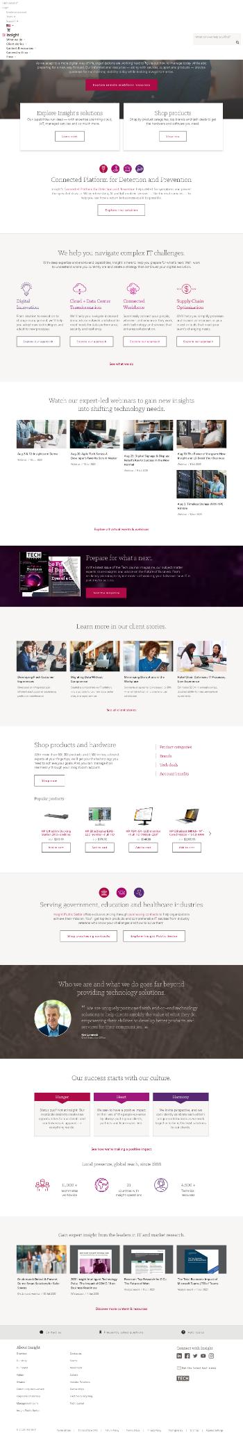 Insight Enterprises, Inc. Website Screenshot