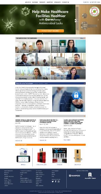 Napco Security Technologies, Inc. Website Screenshot