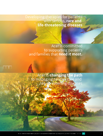 Acer Therapeutics Inc. Website Screenshot