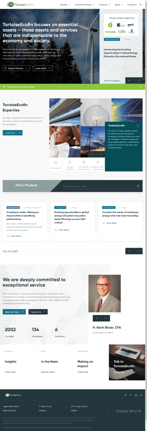 Tortoise Midstream Energy Fund, Inc. Website Screenshot