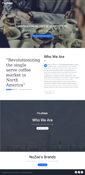 NuZee, Inc. Website Screenshot