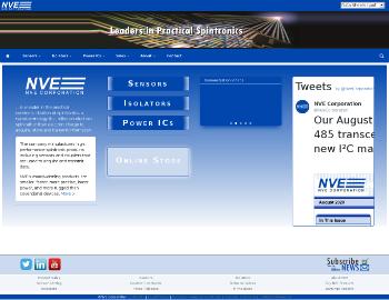 NVE Corporation Website Screenshot
