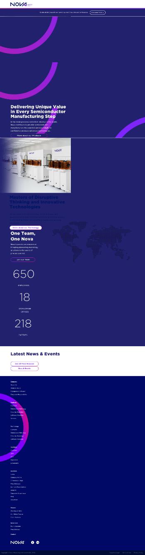 Nova Measuring Instruments Ltd. Website Screenshot