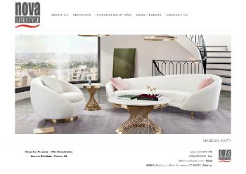 Nova LifeStyle, Inc. Website Screenshot