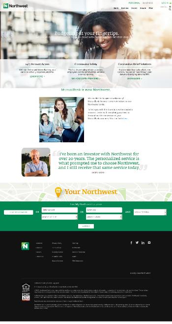 Northwest Bancshares, Inc. Website Screenshot