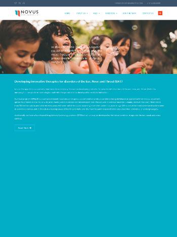 Novus Therapeutics, Inc. Website Screenshot