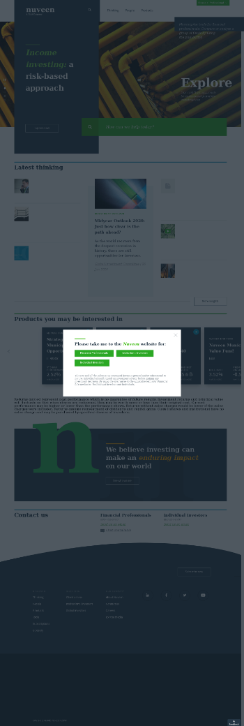 Nuveen New York Select Tax-Free Income Portfolio Website Screenshot