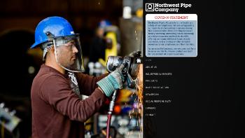 Northwest Pipe Company Website Screenshot