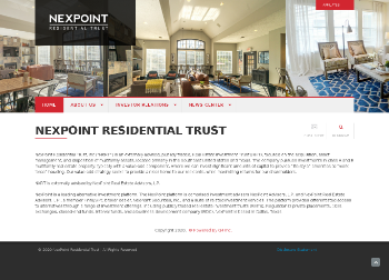 NexPoint Residential Trust, Inc. Website Screenshot