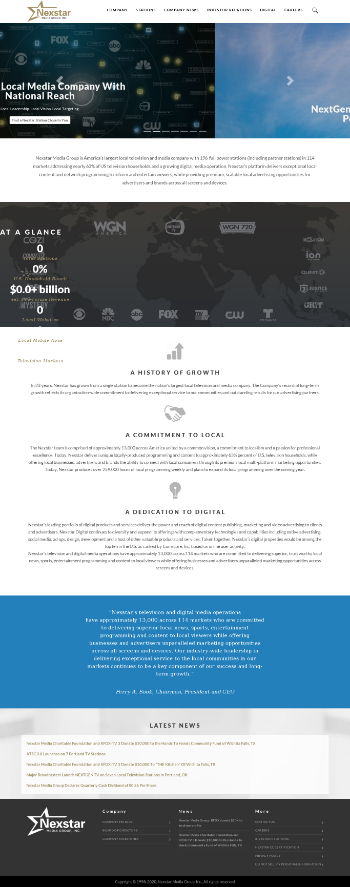 Nexstar Media Group, Inc. Website Screenshot
