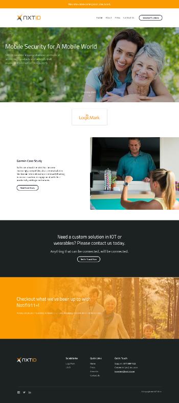 Nxt-ID, Inc. Website Screenshot