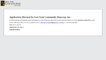 New York Community Bancorp, Inc. Website Screenshot