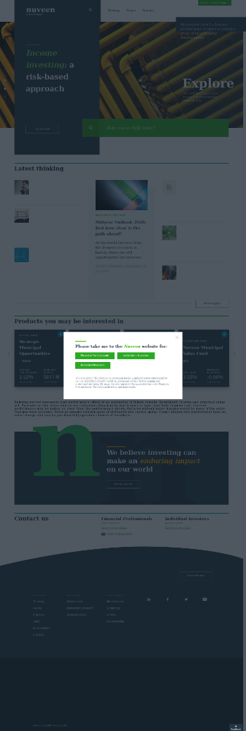 Nuveen Select Tax-Free Income Portfolio 3 Website Screenshot