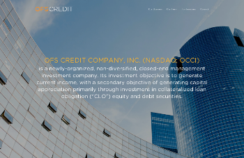OFS Credit Company, Inc. Website Screenshot