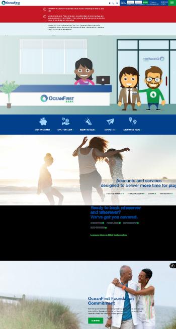 OceanFirst Financial Corp. Website Screenshot