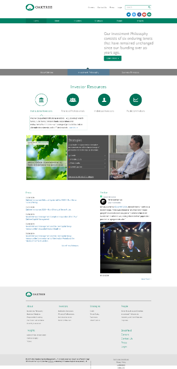 Oaktree Strategic Income Corporation Website Screenshot