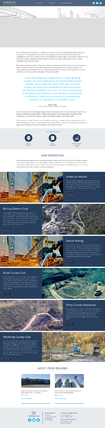 American Resources Corporation Website Screenshot
