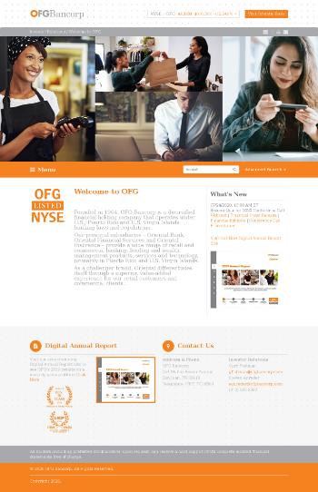 OFG Bancorp Website Screenshot