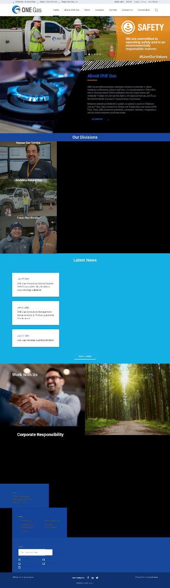 ONE Gas, Inc. Website Screenshot
