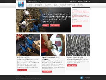 Oil States International, Inc. Website Screenshot