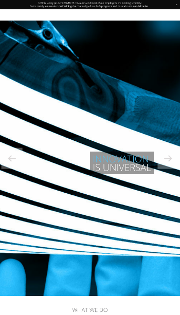 Universal Display Corporation Website Screenshot