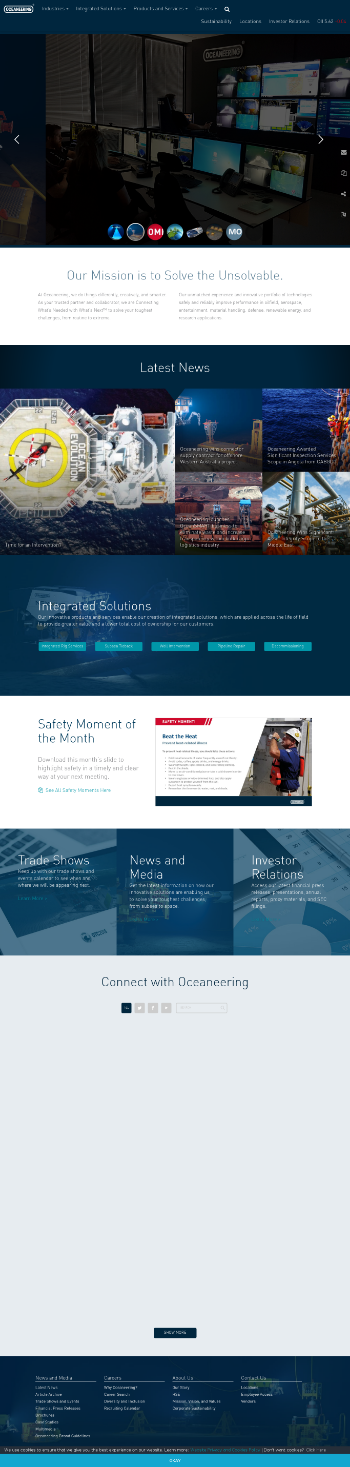 Oceaneering International, Inc. Website Screenshot