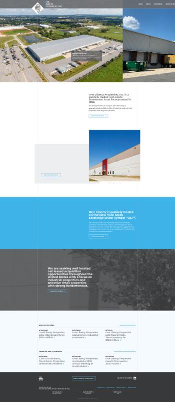 One Liberty Properties, Inc. Website Screenshot