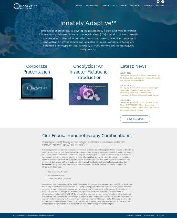 Oncolytics Biotech Inc. Website Screenshot