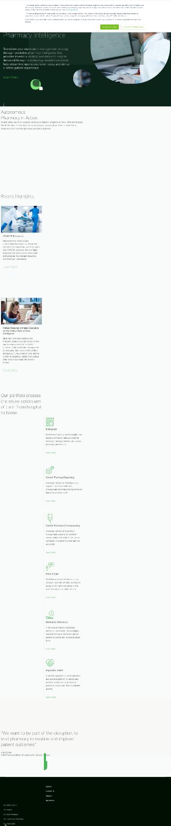 Omnicell, Inc. Website Screenshot