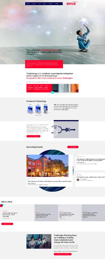 Onto Innovation Inc. Website Screenshot