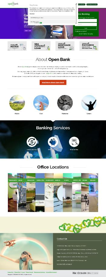OP Bancorp Website Screenshot