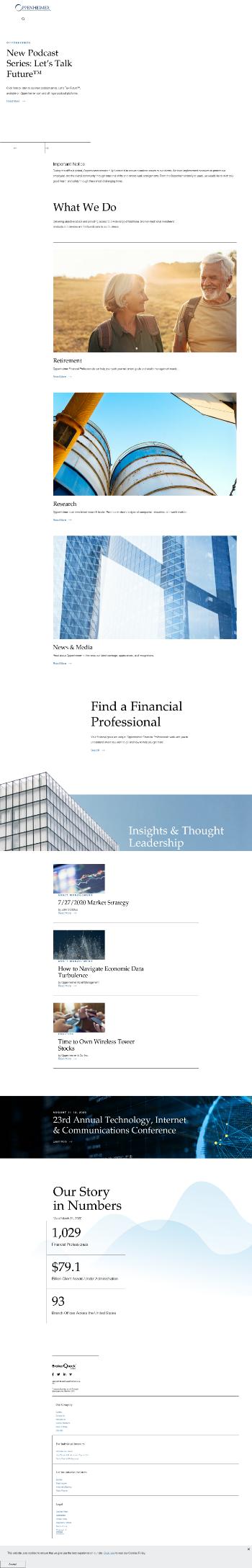 Oppenheimer Holdings Inc. Website Screenshot