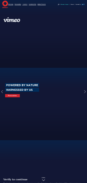 Ormat Technologies, Inc. Website Screenshot