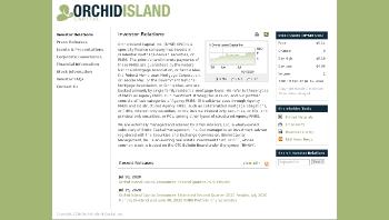 Orchid Island Capital, Inc. Website Screenshot