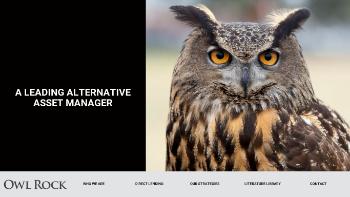 Owl Rock Capital Corporation Website Screenshot
