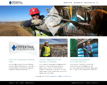 Otter Tail Corporation Website Screenshot
