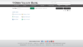 Ohio Valley Banc Corp. Website Screenshot