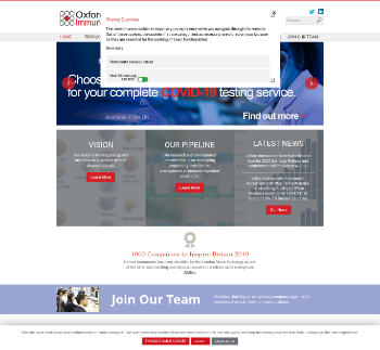 Oxford Immunotec Global PLC Website Screenshot