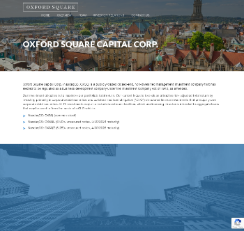 Oxford Square Capital Corp. Website Screenshot