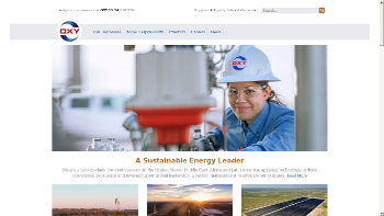 Occidental Petroleum Corporation Website Screenshot