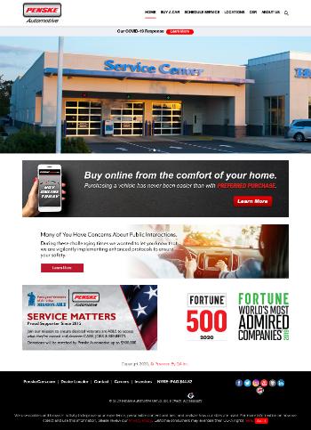 Penske Automotive Group, Inc. Website Screenshot