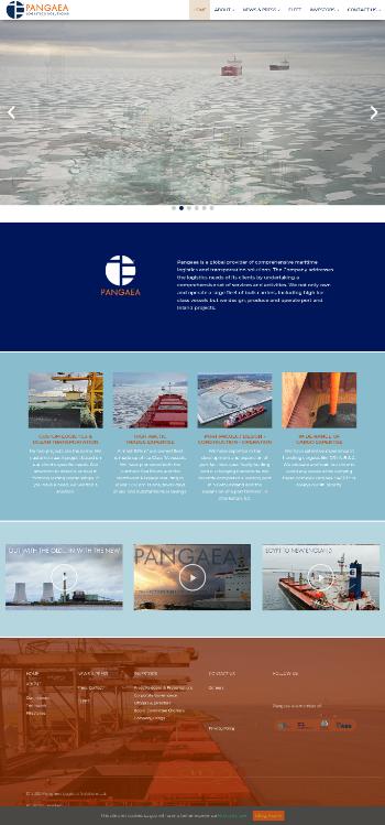 Pangaea Logistics Solutions, Ltd. Website Screenshot