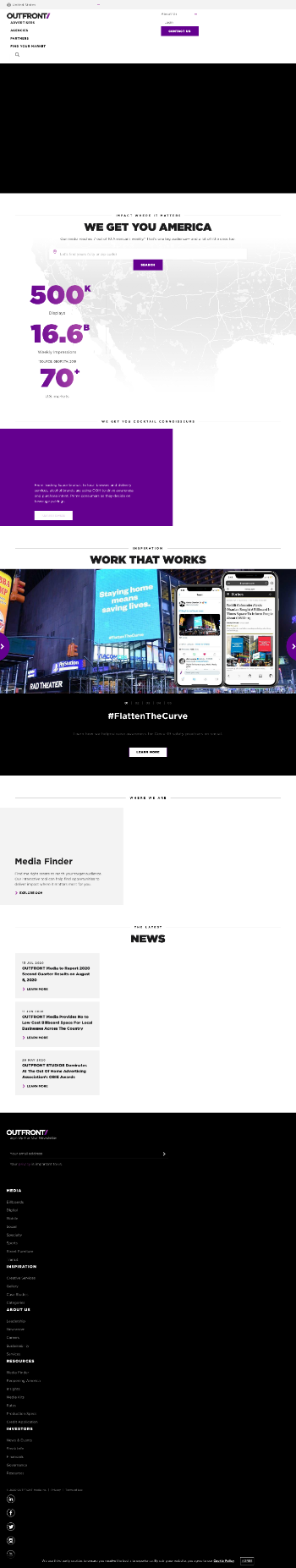 Outfront Media Inc. (REIT) Website Screenshot