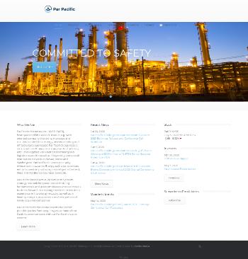 Par Pacific Holdings, Inc. Website Screenshot