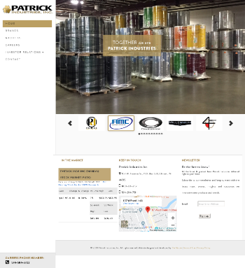 Patrick Industries, Inc. Website Screenshot